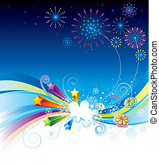 Holiday Eve - Vector illustration of holiday eve celebration...