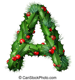Holiday Font Letter A Isolated - Holiday font letter A as a ...