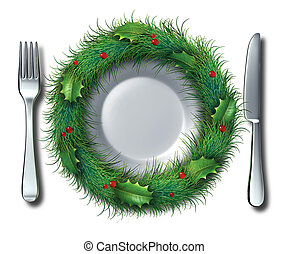 Holiday Food - Holiday food and Christmas recipe concept...
