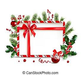 Holiday frame and ball