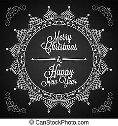happy merry christmas and new year - holiday - frame happy...