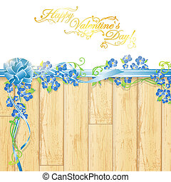 Holiday frame with flowers and ribbon bow