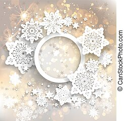 Holiday frame with snowflakes