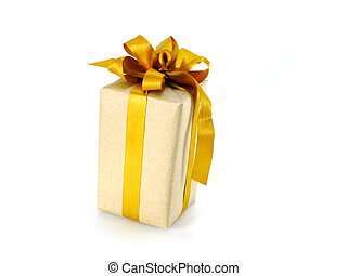 holiday gift box isolated on white background