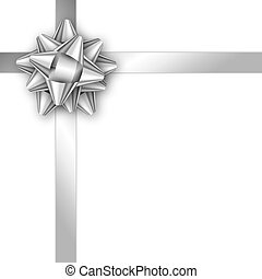 the silver template with a gift rib the blank template for greeting