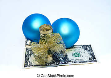Holiday Gift Giving Concept Money