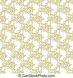Holiday gift seamless pattern with hand lettering Sorry