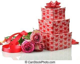 holiday gifts with rose