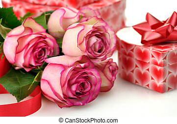 holiday gifts with roses