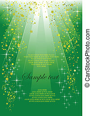 Holiday green background or cover for festival brochure