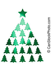 holiday green christmas tree isolated