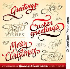 holiday greetings (vector)
