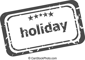 holiday grunge rubber stamp isolated on white background