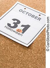 Halloween - Holiday Halloween, calendar October 31