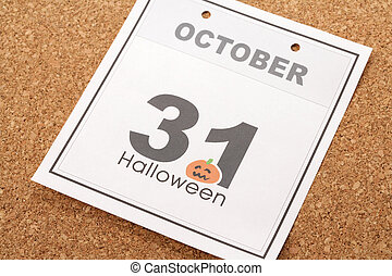 Halloween - Holiday Halloween, calendar October 31