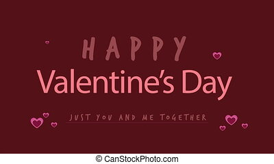Holiday happy valentine day greeting with animation love