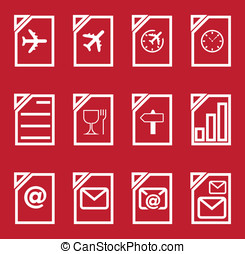 holiday icon set