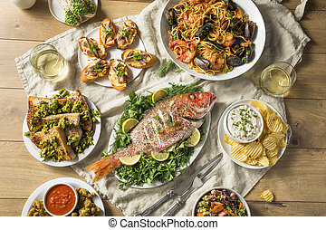 Holiday Italian Feast of 7 Fishes