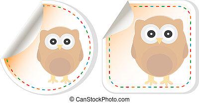 cute owl scrapbooking elements sticker