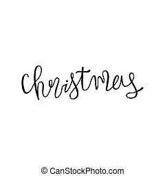 Holiday lettering and Xmas design. Christmas.