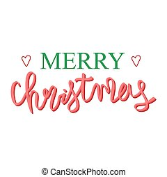 Holiday lettering and Xmas design. Merry christmas.