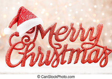 Holiday Lettering, Merry Christmas, red grunge. - Merry ...