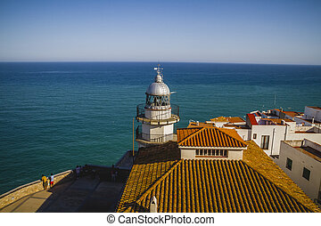 holiday, Lighthouse penyscola views, beautiful city of Valencia