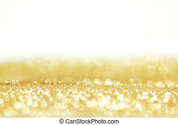 Holiday lights background - Abstract golden shiny holidays...