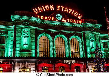 Holiday Lights in Denver Colorado USA