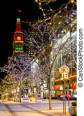 Holiday Lights in Denver Colorado USA