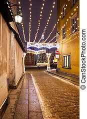 Holiday Lights Street Illumination in Warsaw