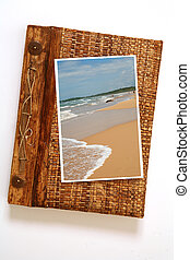 Holiday memories - A scrap/photo album with a picture of the...
