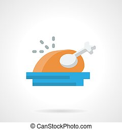 Holiday menu flat color vector icon