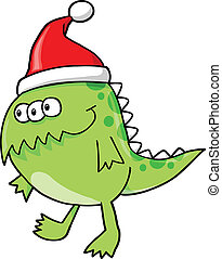 Holiday Monster Alien Vector
