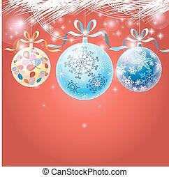 holiday multicolored Christmas ball