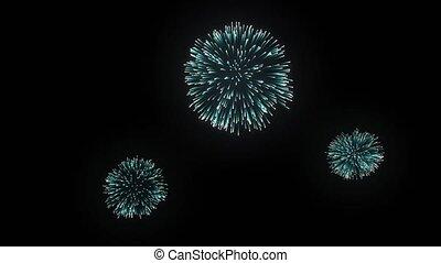 holiday night Firework display Loop Background - 29....
