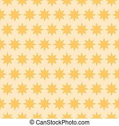 Holiday orange star seamless pattern. Vector illustration