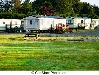 Holiday park cabins