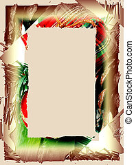 Holiday Plaid - Abstract holiday border. Red and green plaid...