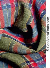Holiday Plaid Fabric Background