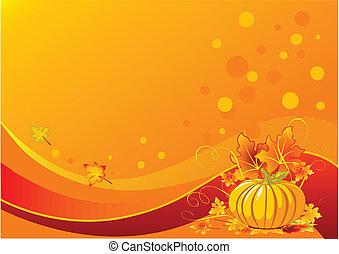 Holiday pumpkin background