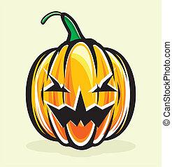 Holiday pumpkin jack lantern