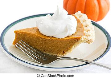Holiday Pumpkin Pie Slice