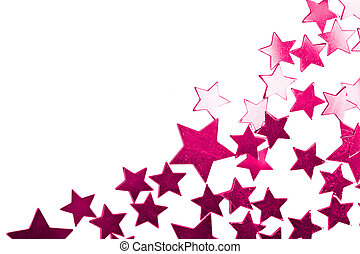 holiday purple stars isolated