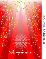 Holiday red background or cover for festival brochure