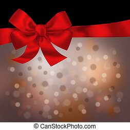 Holiday red black background with bow illustration