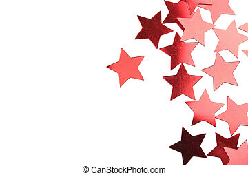 holiday red stars isolated