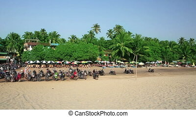Holiday resort on sandy beach
