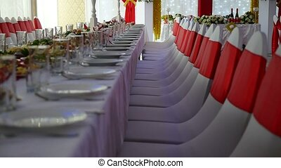 holiday restaurant laid table with food wedding the video -...