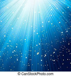 Holiday rise template with shining stars. EPS 8 vector file...